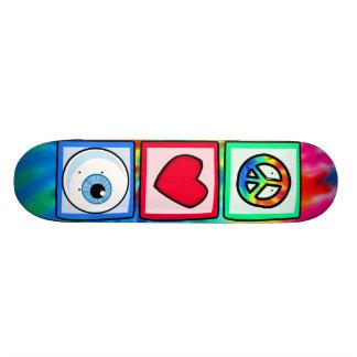 Peace, Love, Eyeball Skateboard