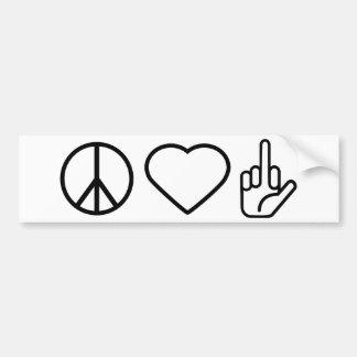Peace Love F Off Bumper Sticker