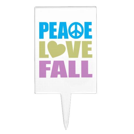 Peace Love Fall Cake Pick