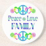 Peace Love Family Drink Coaster