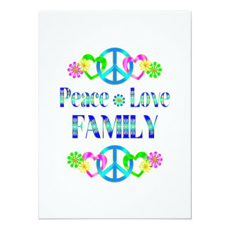 Peace Love Family Custom Invite