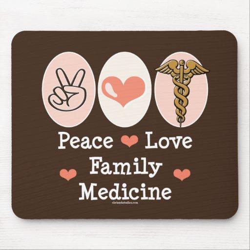 Peace Love Family Medicine Mousepad