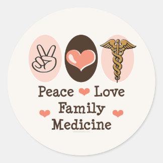 Peace Love Family Medicine Stickers