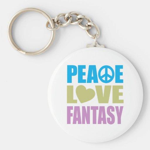 Peace Love Fantasy Keychains