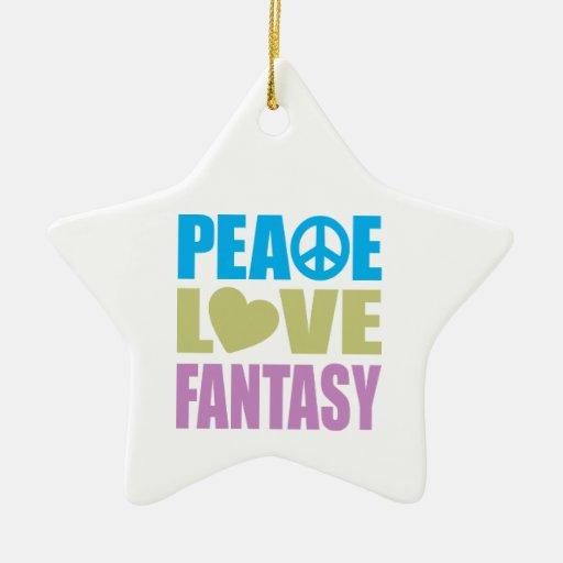 Peace Love Fantasy Ornaments