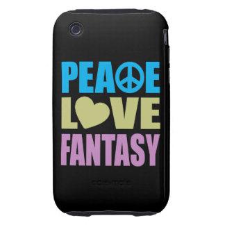 Peace Love Fantasy Tough iPhone 3 Cover
