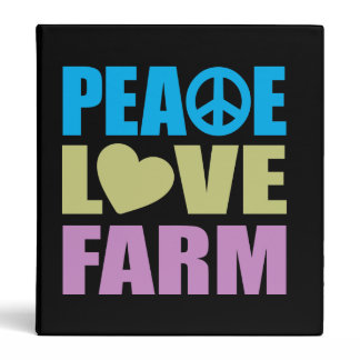 Peace Love Farm Binder