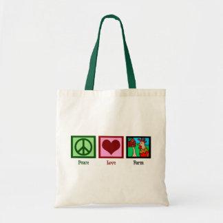 Peace Love Farm Budget Tote Bag