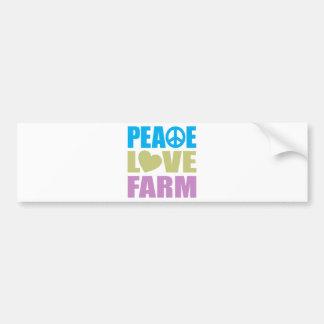 Peace Love Farm Car Bumper Sticker