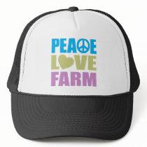Peace Love Farm Trucker Hat