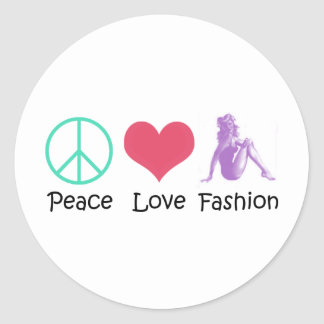 Peace Love Fashion Cool Products! Classic Round Sticker