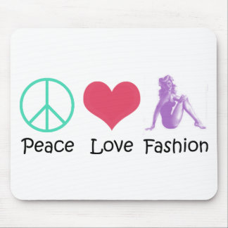 Peace Love Fashion Cool Products! Mouse Pad