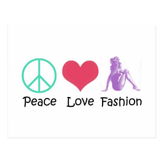 Peace Love Fashion Cool Products! Postcard