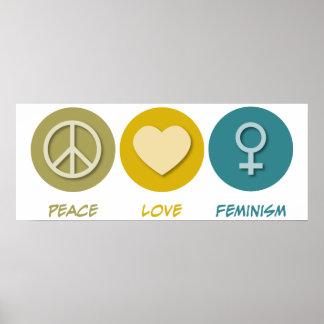 Peace Love Feminism Poster