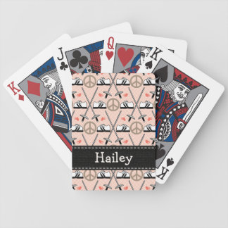 Peace Love Fencing Bicycle Playing Cards