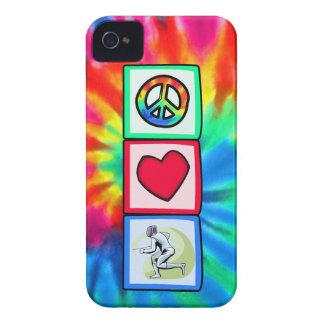 Peace, Love, Fencing iPhone 4 Case-Mate Case