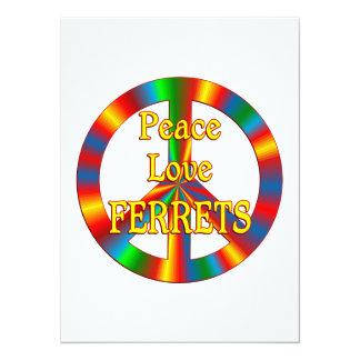 Peace Love Ferrets 5.5x7.5 Paper Invitation Card