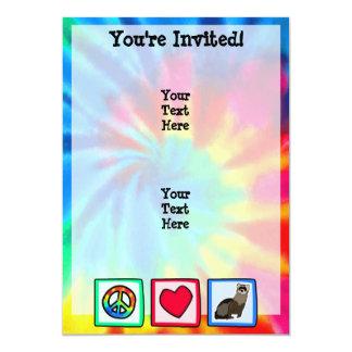 Peace, Love, Ferrets 5x7 Paper Invitation Card