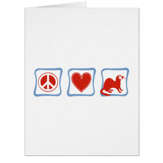 Peace Love Ferrets squares Greeting Card