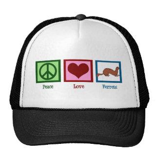 Peace Love Ferrets Trucker Hat