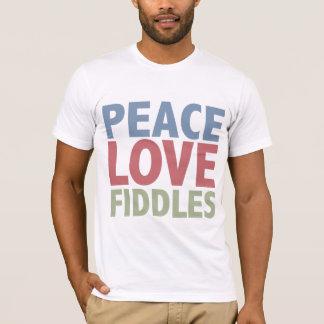Peace Love Fiddles T-Shirt