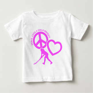 PEACE-LOVE-FIELD HOCKEY BABY T-Shirt