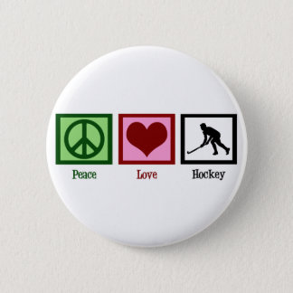 Peace Love Field Hockey Pinback Button