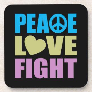 Peace Love Fight Drink Coasters