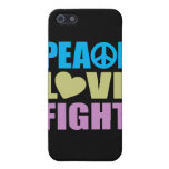 Peace Love Fight Cover For iPhone 5