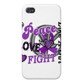 Peace Love Fight Like A Girl 2 Epilepsy iPhone 4/4S Cases