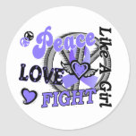Peace Love Fight Like A Girl 2 Esophageal Cancer Sticker