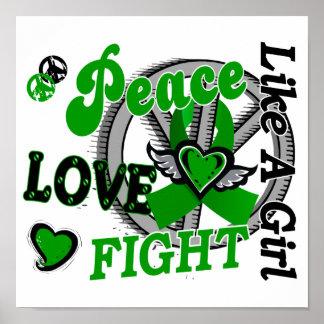 Peace Love Fight Like A Girl 2 Kidney Disease Poster