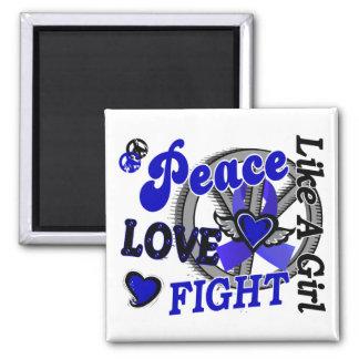 Peace Love Fight Like A Girl 2 Rheumatoid Arthriti Fridge Magnet
