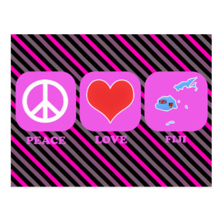 Peace Love Fiji Postcard