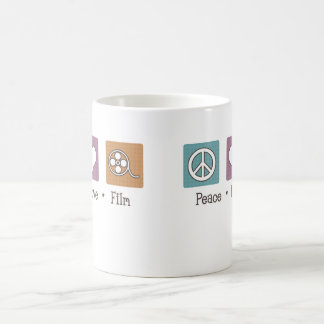 Peace Love Film Classic White Coffee Mug