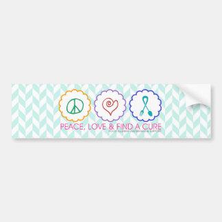 Peace, Love & Find a Cure Bumper Sticker