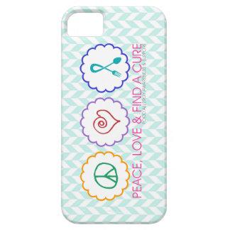 Peace, Love & Find a Cure iPhone 5 Case
