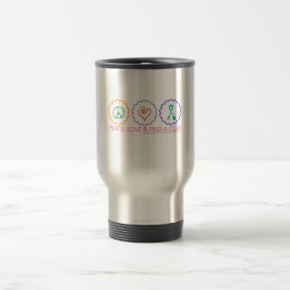 Peace, Love & Find a Cure Travel Mug