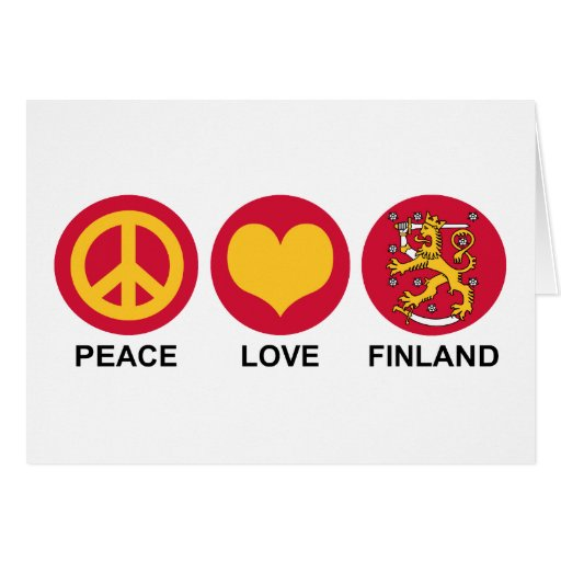Peace Love Finland Greeting Card