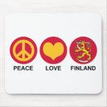 Peace Love Finland Mousepads