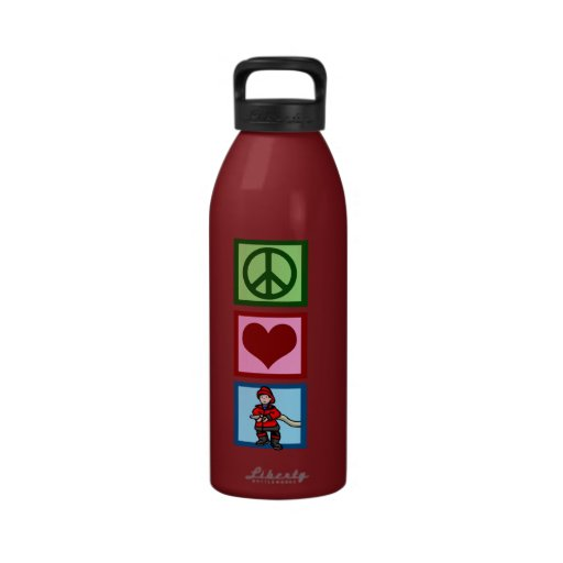 Peace Love Firefighters Reusable Water Bottle
