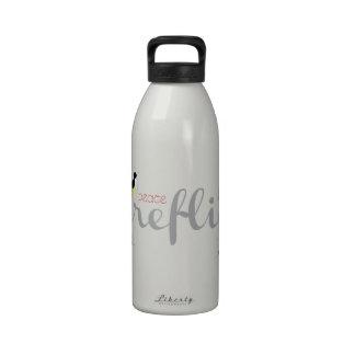 Peace Love Fireflies Water Bottles