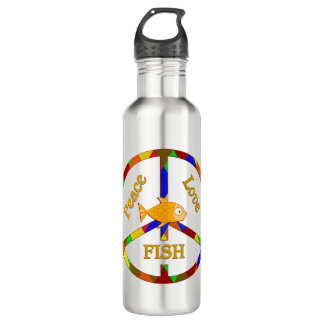 Peace Love Fish Water Bottle