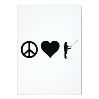 Peace Love Fishing Card