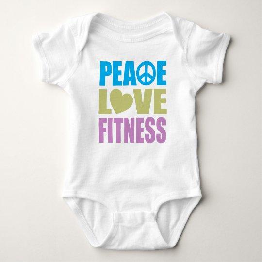 Peace Love Fitness Baby Bodysuit