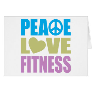 Peace Love Fitness Card