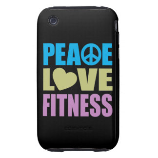 Peace Love Fitness iPhone 3 Tough Cases