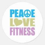 Peace Love Fitness Classic Round Sticker