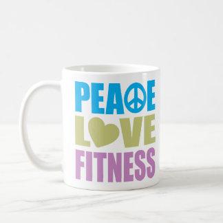 Peace Love Fitness Coffee Mug