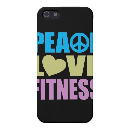 Peace Love Fitness Covers For iPhone 5